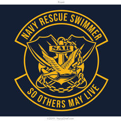 """Navy Rescue Swimmer"" Tank, Navy - NavyChief.com - Navy Pride, Chief Pride."