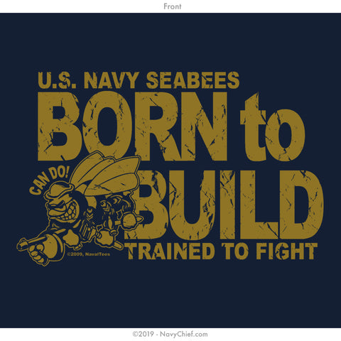 "Seabees ""Born to Build"" Tank, Navy"