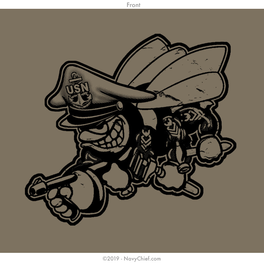 "Seabees ""Can Do"" T-shirt, NWU Brown - NavyChief.com - Navy Pride, Chief Pride."