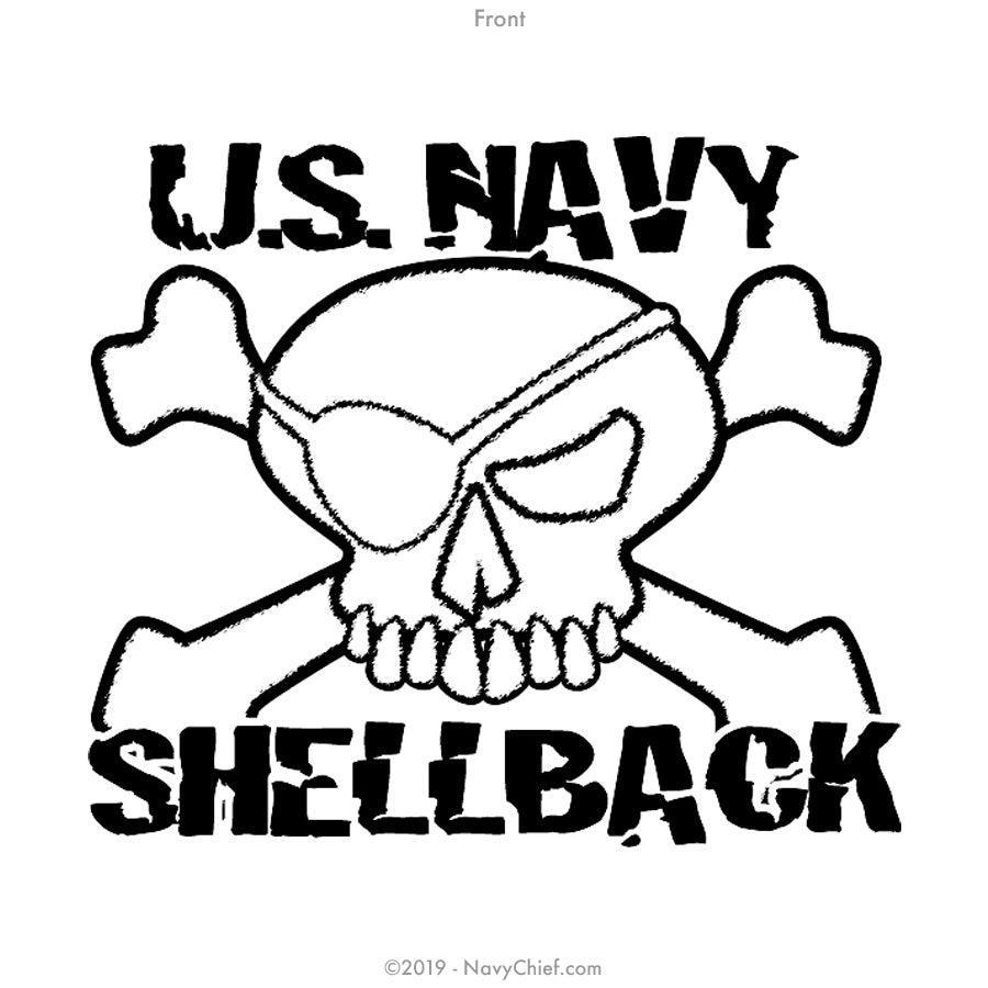 """US Navy Shellback"" Sleeveless Tee, White - NavyChief.com - Navy Pride, Chief Pride."