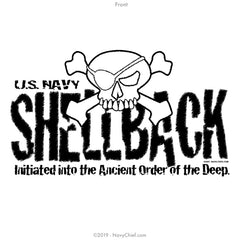 """Shellback"" Ladies Tee, White - NavyChief.com - Navy Pride, Chief Pride."