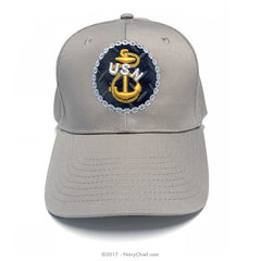 "Embroidered ""Tradition"" Anchor Hat, Khaki"