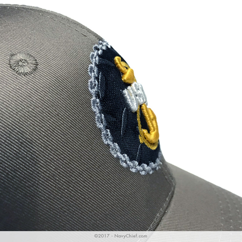 "Embroidered ""Tradition"" Anchor Hat, Khaki - NavyChief.com - Navy Pride, Chief Pride."