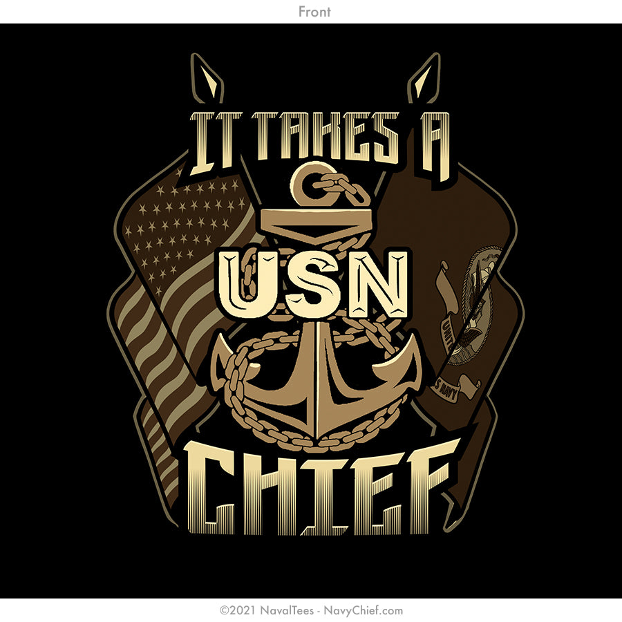 """It Takes a Chief"" Tee - Black"