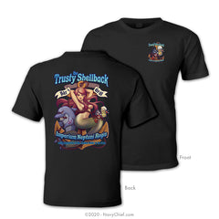 """The Trusty Shellback - Bar & Grill"" T-Shirt, Black - NavyChief.com - Navy Pride, Chief Pride."