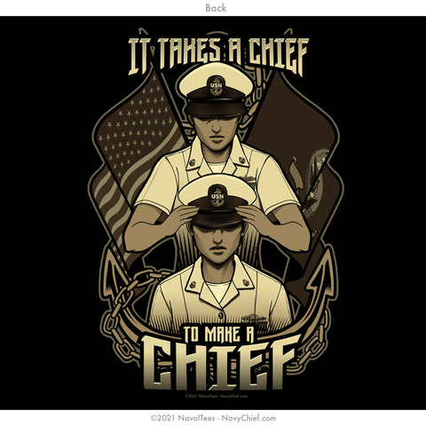 """It takes a Chief"" Ladies Tee - Black"