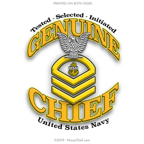 """Genuine CPO"" Aluminum Water Bottle - Silver - NavyChief.com - Navy Pride, Chief Pride."