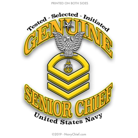"""Genuine SCPO"" Aluminum Water Bottle - Silver - NavyChief.com - Navy Pride, Chief Pride."