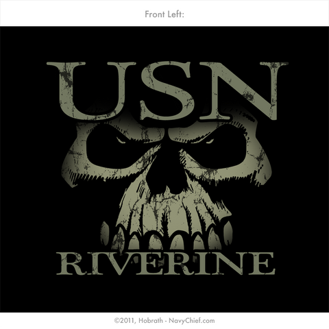 "U.S. Navy ""Brown Water Warriors - Riverine Forces"" T-shirt, Black - NavyChief.com"