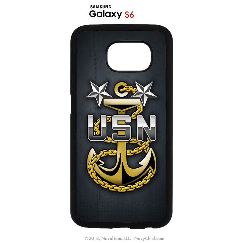 """MCPO Anchor"" Mobile Phone Cover (iPhone & Samsung) - NavyChief.com - Navy Pride, Chief Pride."