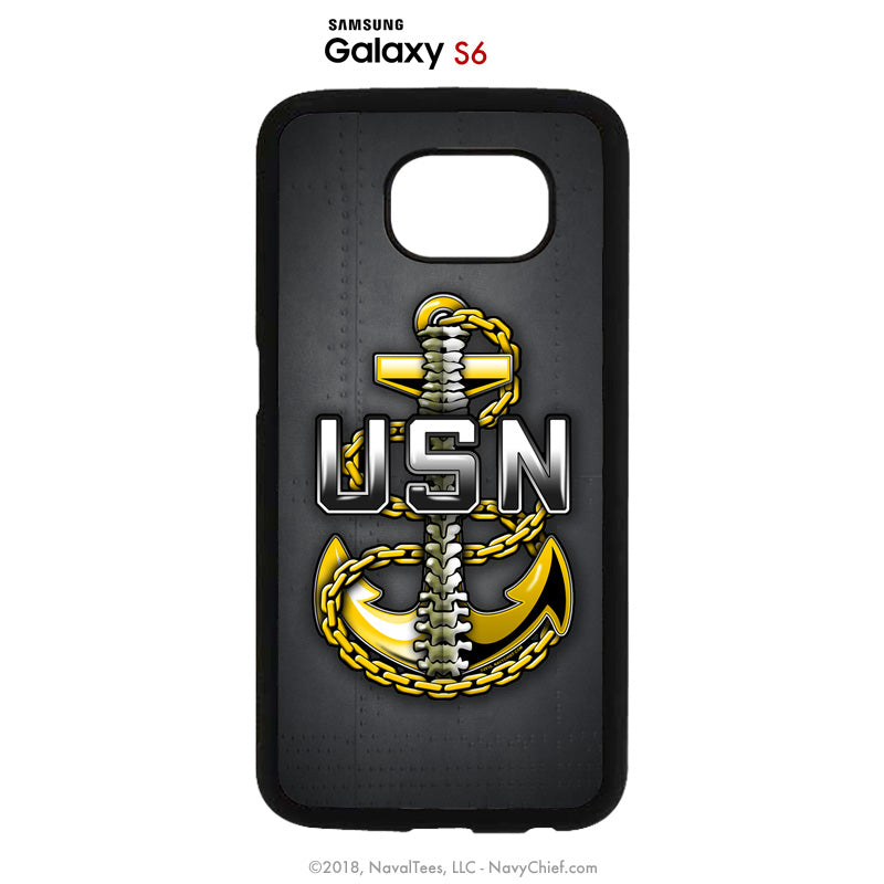 """Backbone"" Mobile Phone Cover (iPhone & Samsung) - NavyChief.com - Navy Pride, Chief Pride."