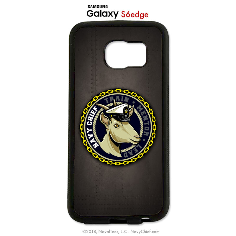"""Train-Mentor-Lead"" Female Goat - Mobile Phone Cover (iPhone & Samsung) - NavyChief.com - Navy Pride, Chief Pride."