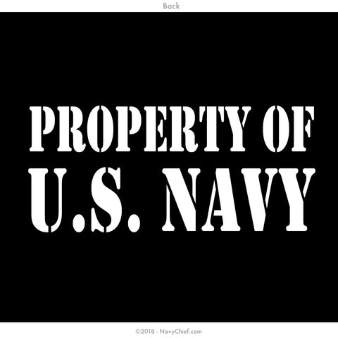 """Property of US NAVY"" -  WOMEN'S SHORTIE - NavyChief.com - Navy Pride, Chief Pride."