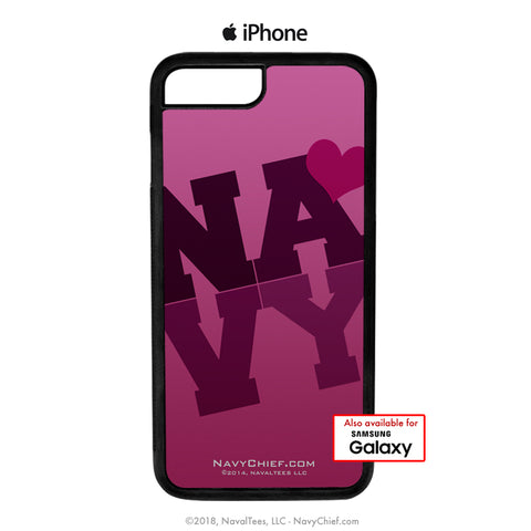 NAVY in PINK - Mobile Phone Cover (iPhone & Samsung) - NavyChief.com - Navy Pride, Chief Pride.