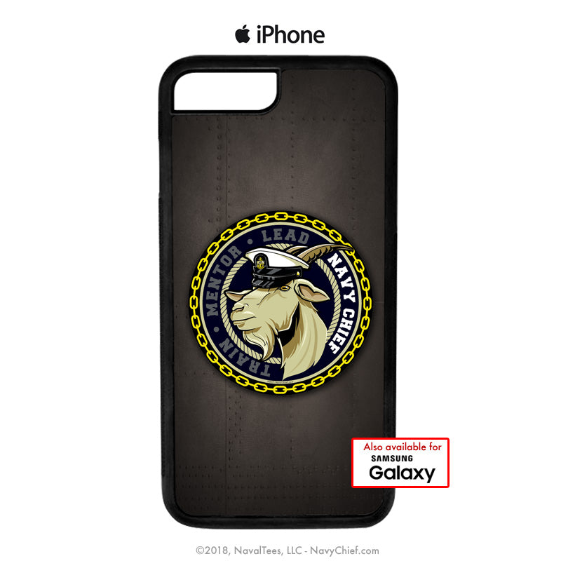 """Train-Mentor-Lead"" Male Goat - Mobile Phone Cover (iPhone & Samsung) - NavyChief.com - Navy Pride, Chief Pride."