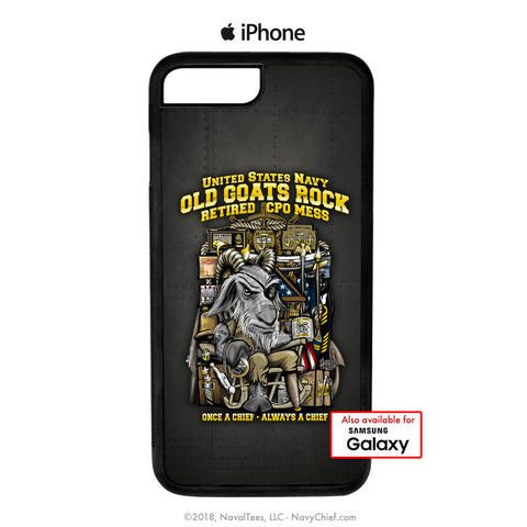 """Old Goats"" Mobile Phone Cover (iPhone & Samsung) - NavyChief.com - Navy Pride, Chief Pride."
