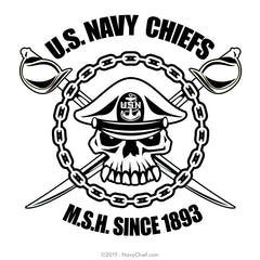 US Navy Chiefs 'MSH Since 1893' - Shot Glass - NavyChief.com - Navy Pride, Chief Pride.