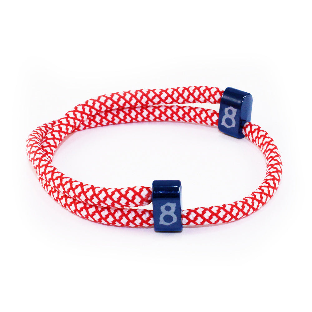 Red white and blue rope st8te bracelet