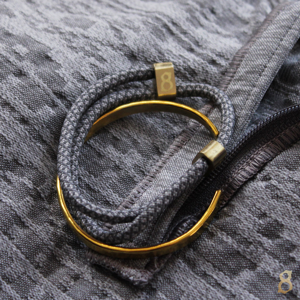 Grey and gold rope st8te bracelet