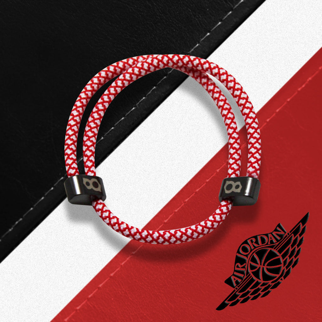Red white (cardinal) black st8te bracelet