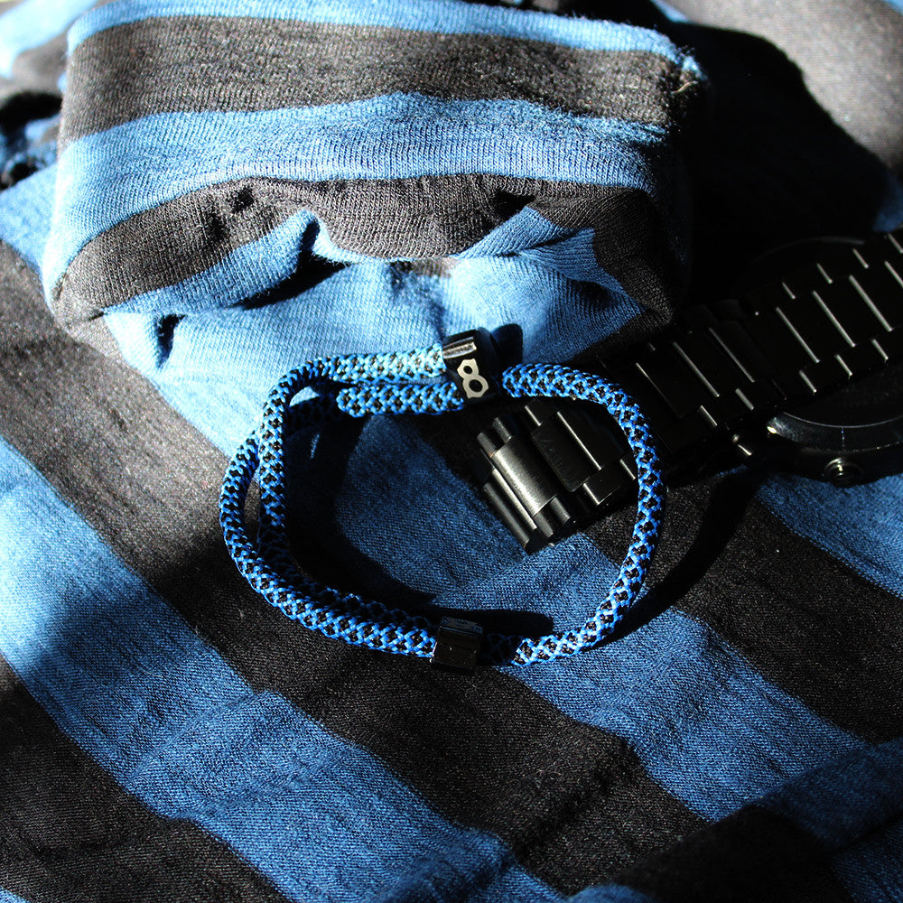 Black and blue (midnight) st8te rope bracelet