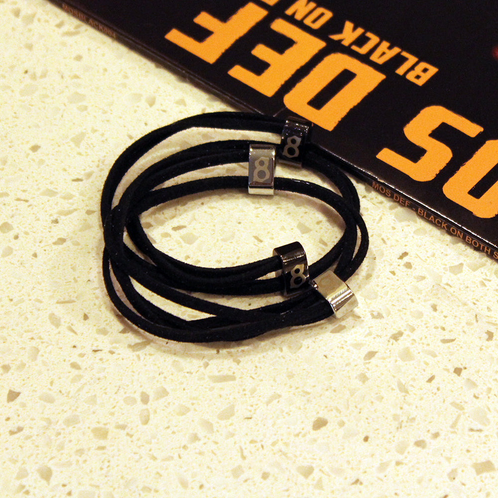 Black leather st8te bracelet