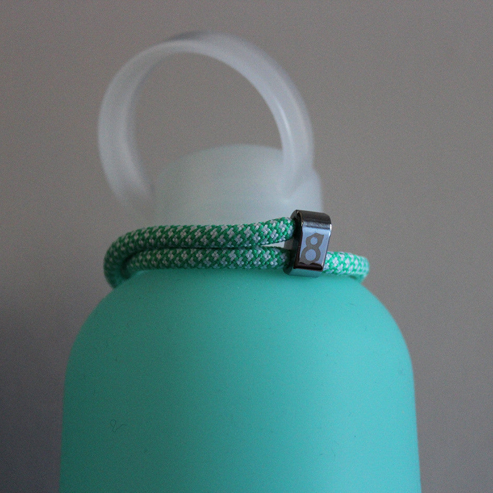 Light green (tiffany) silver st8te rope bracelet