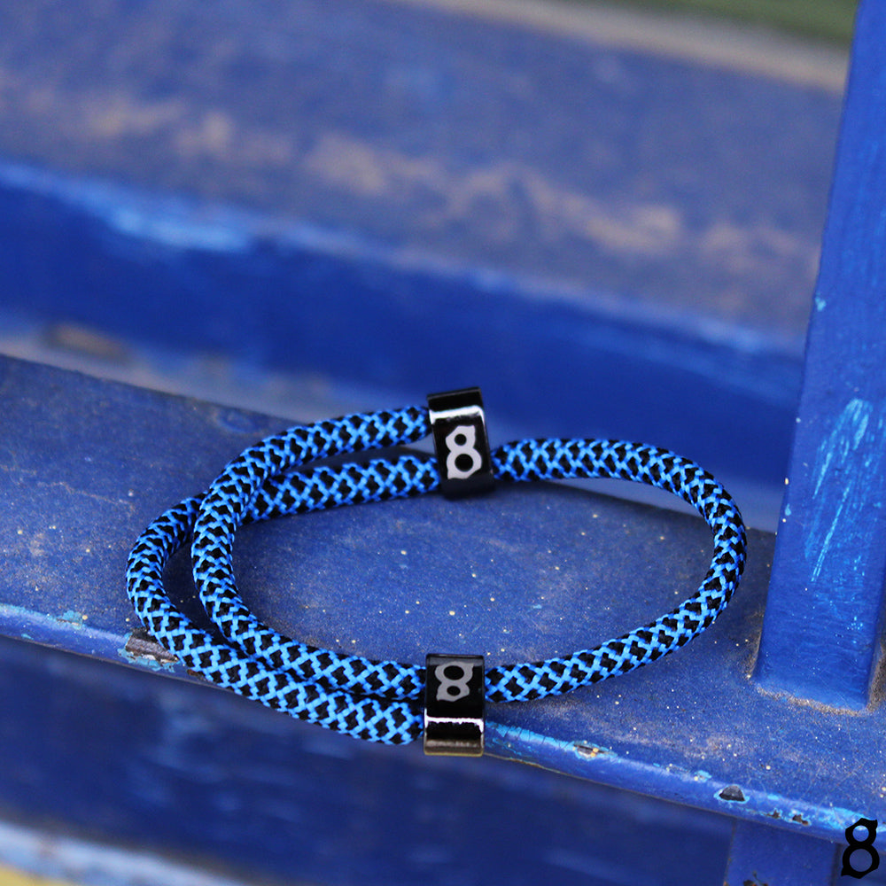 Blue and black rope st8te bracelet