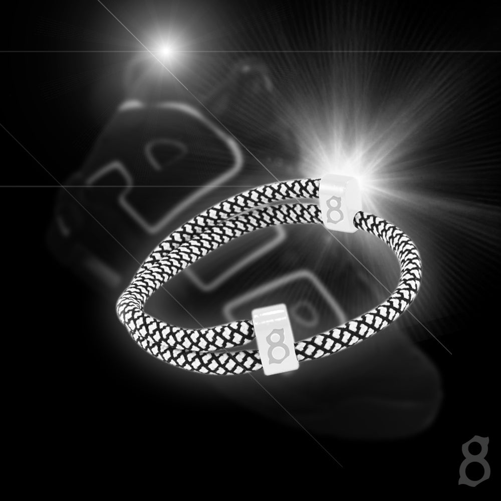 Black and white rope st8te bracelet