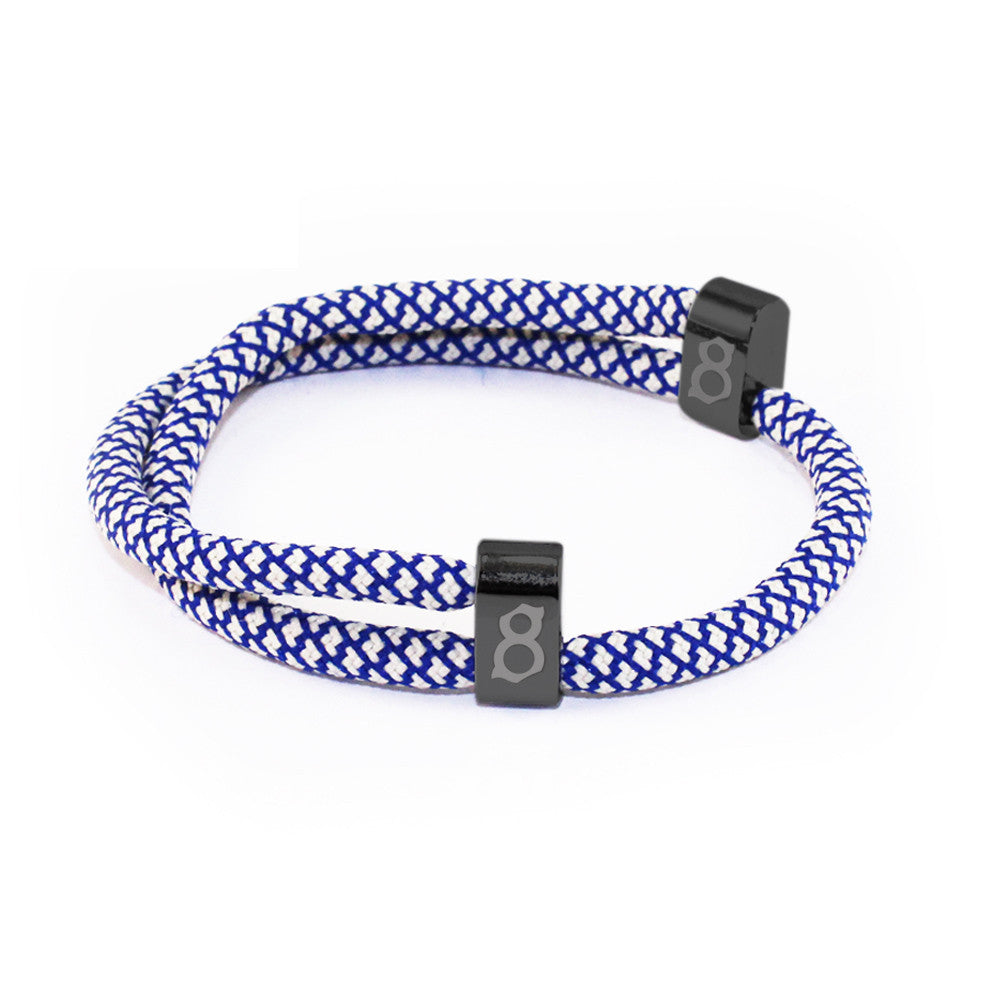 Blue and white st8te bracelet