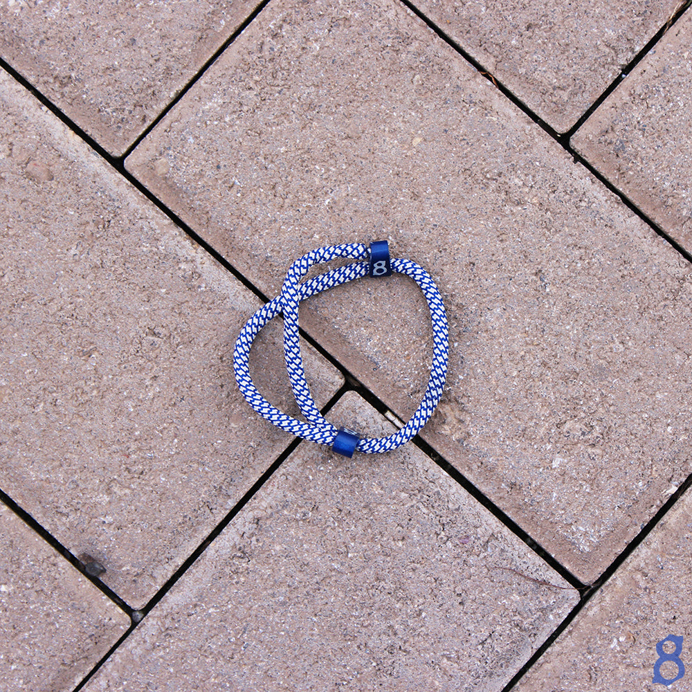 Blue and white rope st8te bracelet