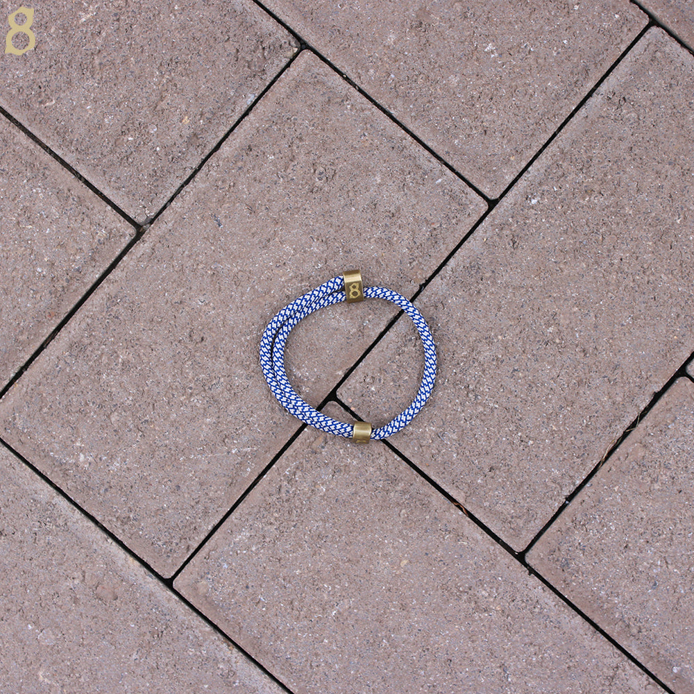 Blue white and gold rope st8te bracelet