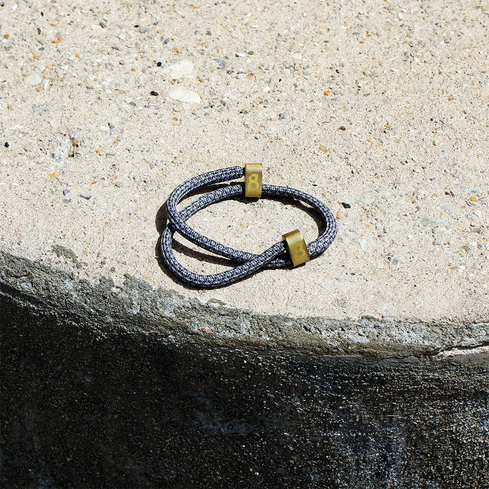 Grey and gold st8te bracelet