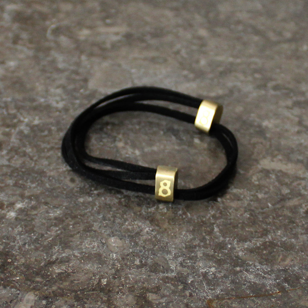 Suede Black and gold st8te bracelet