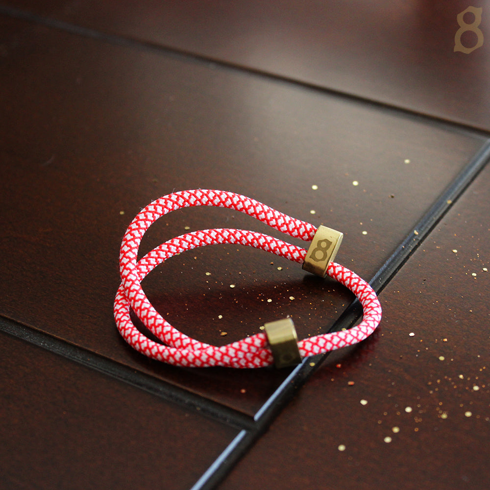 Red, White and Gold rope st8te bracelet