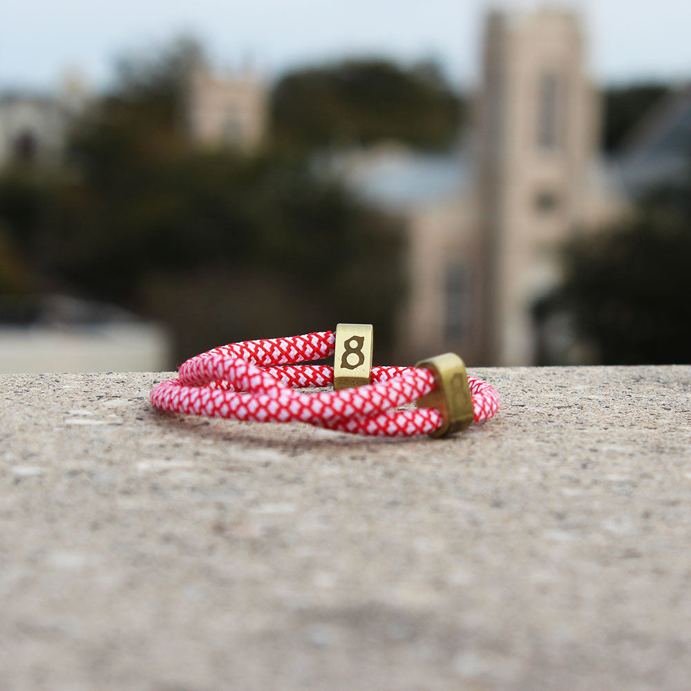 red and white st8te bracelet