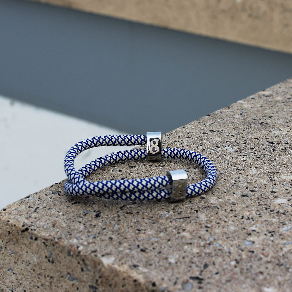 blue and white (royal silver) st8te bracelet