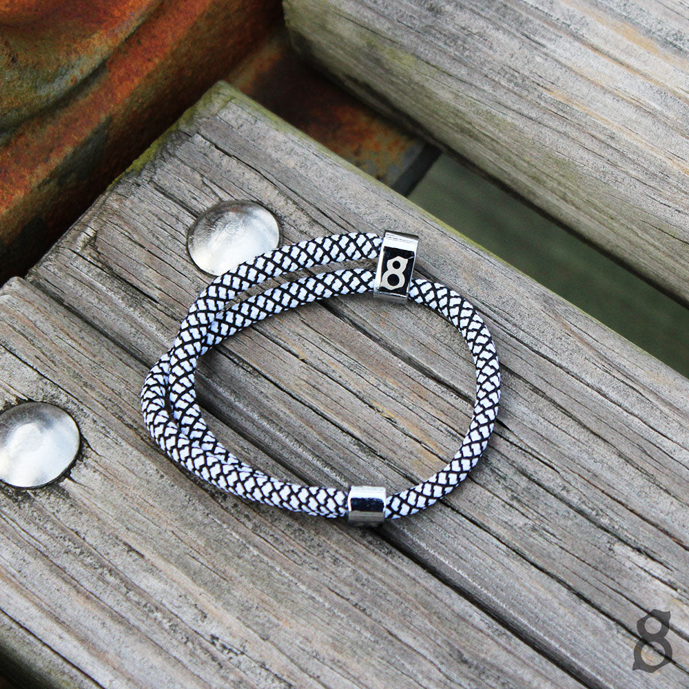 Black and white st8te bracelet