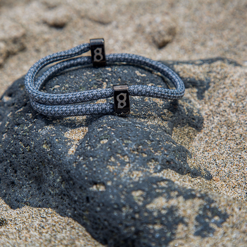 Grey and black (slate) st8te bracelet