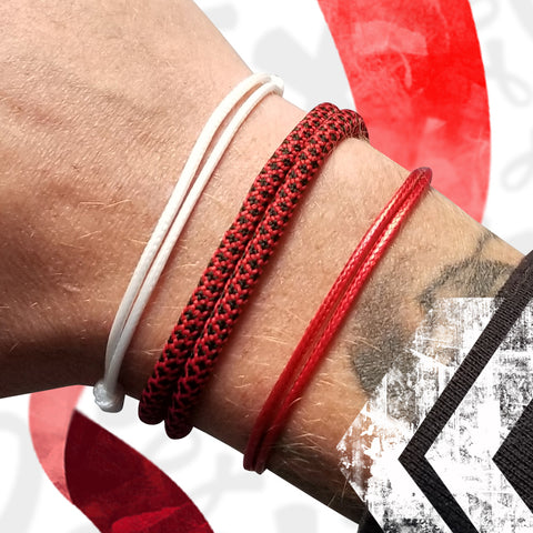 st8te Aids Awareness Charity Bracelet Pack