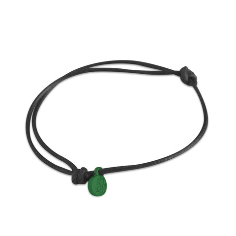 st8te Handmade Black and Green  Rope Bracelet with Charm | Adjustable Rope Slider | Bracelet Stacks