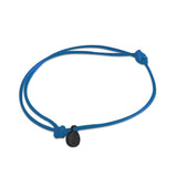 st8te Handmade Blue and Black Rope Bracelet with Charm | Adjustable Rope Slider