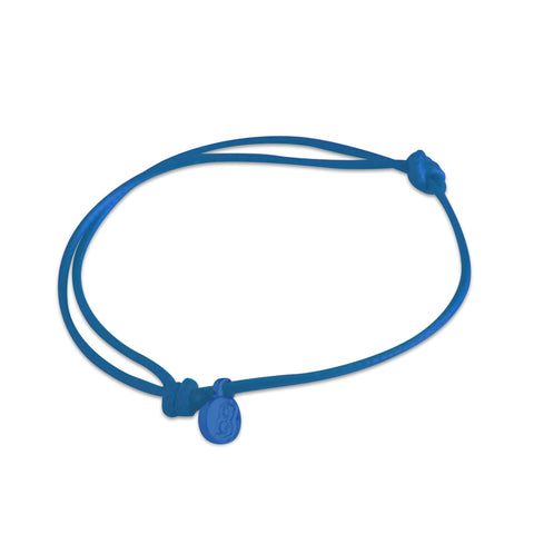st8te Handmade Blue Rope Bracelet with Charm | Adjustable Rope Slider