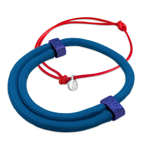 Blue Red Bracelet Stack