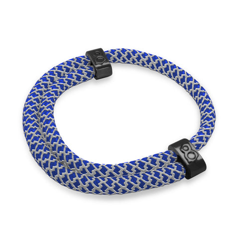 Blue Reflect Rope Bracelet