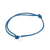 st8te Handmade Blue and White Rope Bracelet with Charm | Adjustable Rope Slider