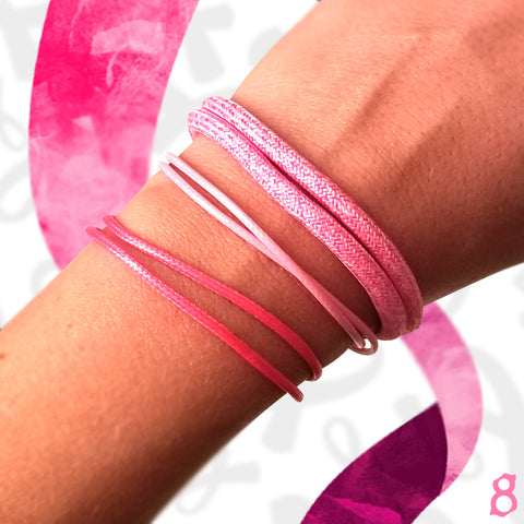 St8te Breast Cancer Bracelets | Handmade and Adjustable to all Sizes