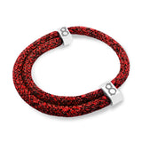 st8te Handmade Black and Red (Bred) Rope Bracelet | Adjustable Slider