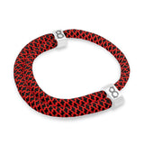 st8te Handmade Black & Red Rope Bracelet | Adjustable Rope Slider