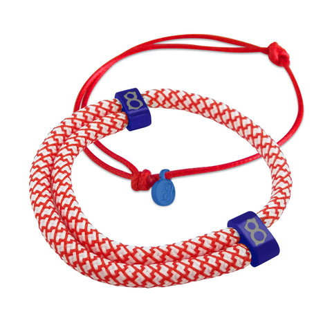 Cardinal Blue/Red Bracelet Stack